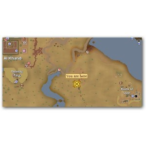 Location of Desert Devil in Runescape